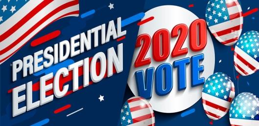 2020 USA presidential election banner.